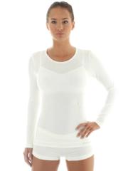 Женская терморубашка Brubeck Comfort Wool (LS12150) белая