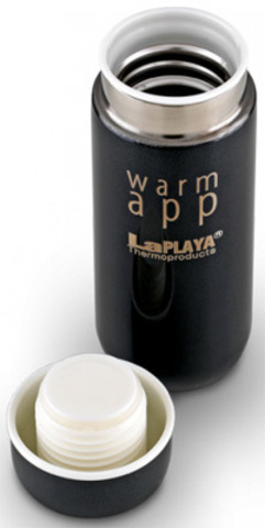 Термос LaPlaya WarmApp black нерж. cталь 0,2 L