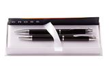 Набор Cross Helios Black Lacquer шариковая ручка и механический карандаш 0.9 AT0221G-9