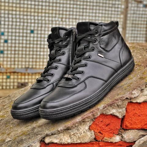 Мужские ботинки на байке с молнией