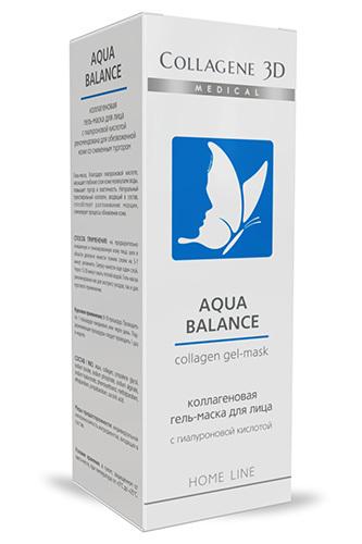 Коллагеновая гель-маска AQUA BALANCE с гиалуроновой кислотой для обезвоженной кожи, Medical Collagene 3D
