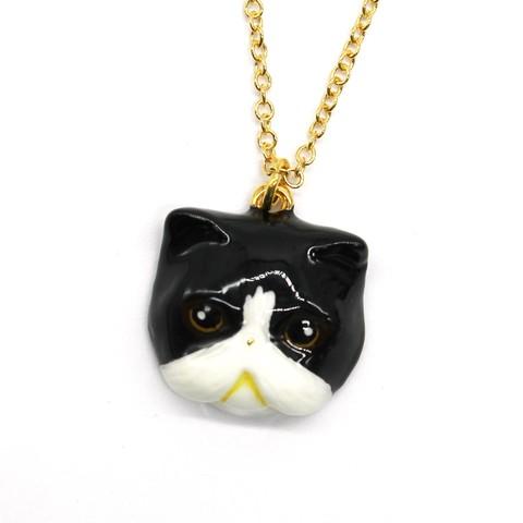 Колье Персидская кошка (черно-белая)