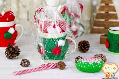 Подарунковий набір Святковий в зеленому светрі