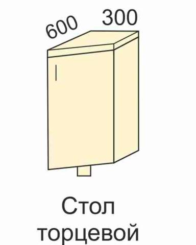 СОФЬЯ, СВЕТЛАНА, ПРЕМЬЕР, ПОЛИНАСтол (торцевой) с фасадом300