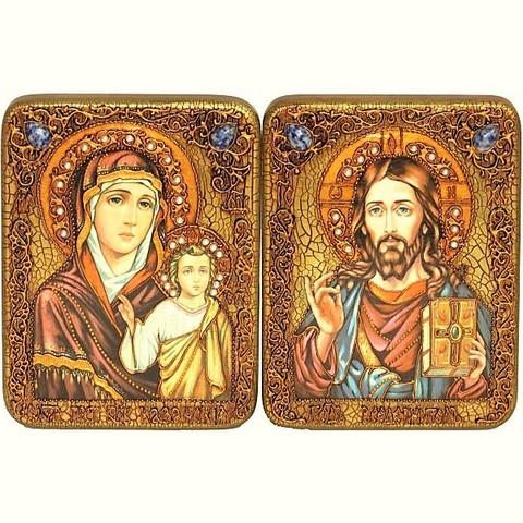 Инкрустированная пара икон на свадьбу