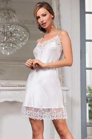 Сорочка женская шелковая MIA-Amore WHITE SWAN Белый Лебедь 3554