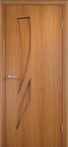 Дверь Фрегат ПГ-012 Пламя, цвет миланский орех, глухая
