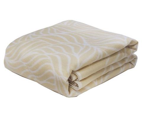 Одеяло байковое Премиум Бежевый орнамент