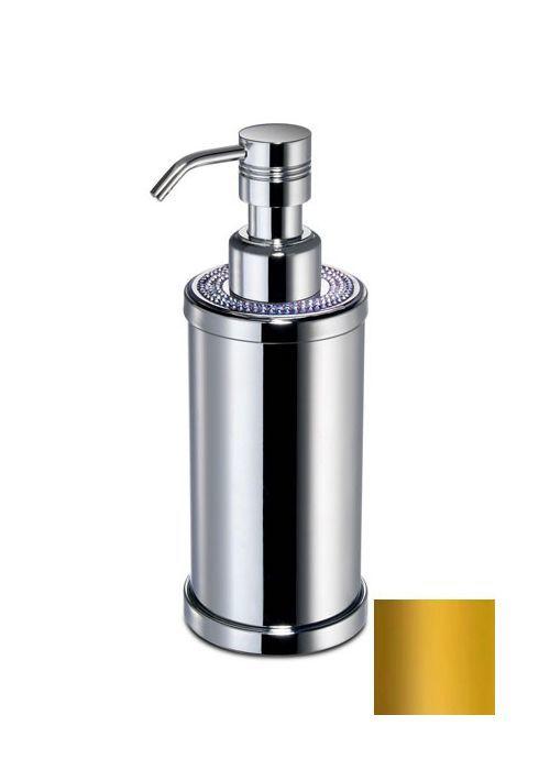 Дозатор для жидкого мыла круглый Windisch 3 Lines золото