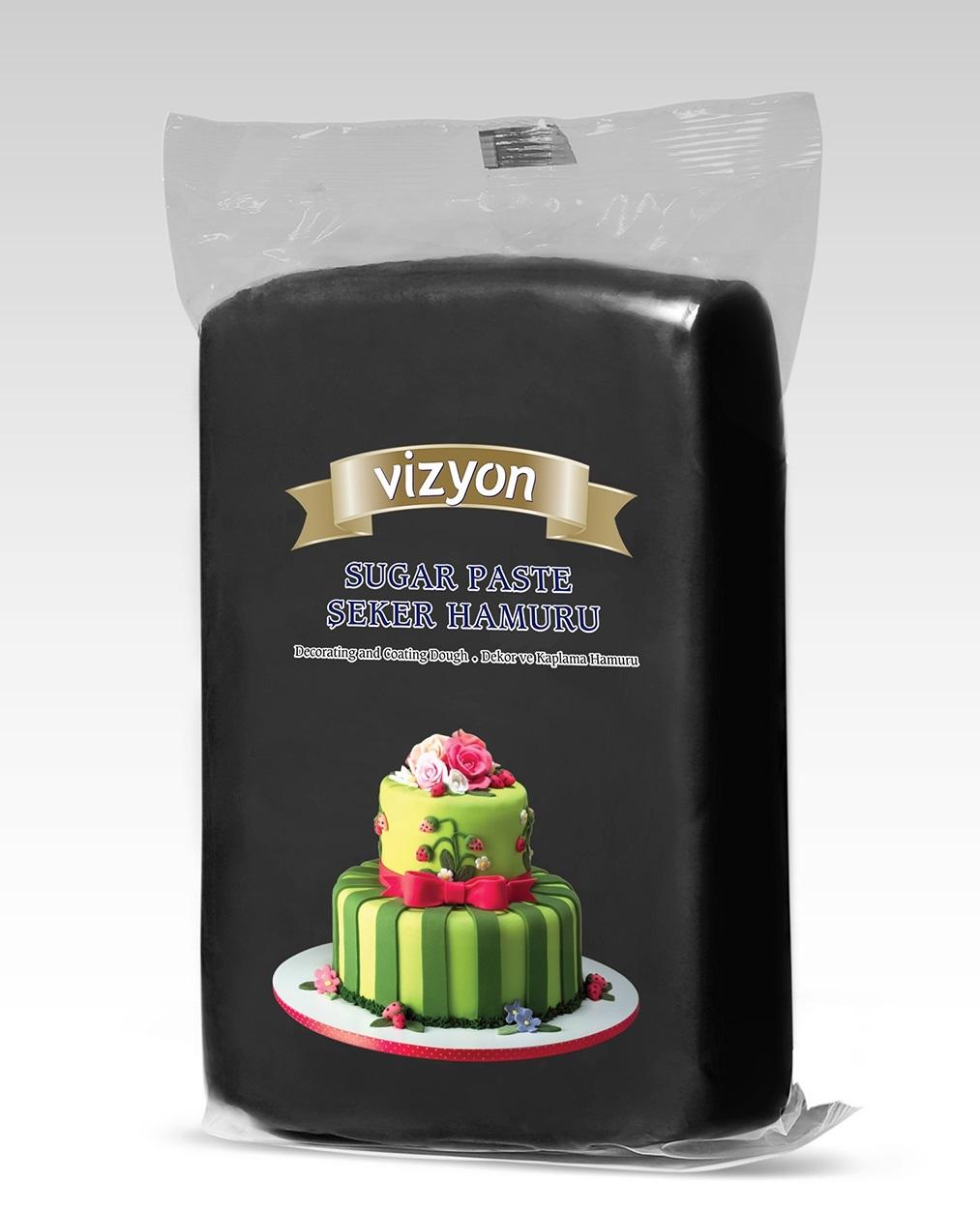Мастика сахарная черная Vizyon 0,5 кг