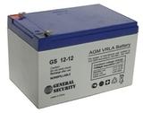 Аккумулятор General Security GS 12-12 ( GS12-12 ) ( 12V 12Ah / 12В 12Ач ) - фотография