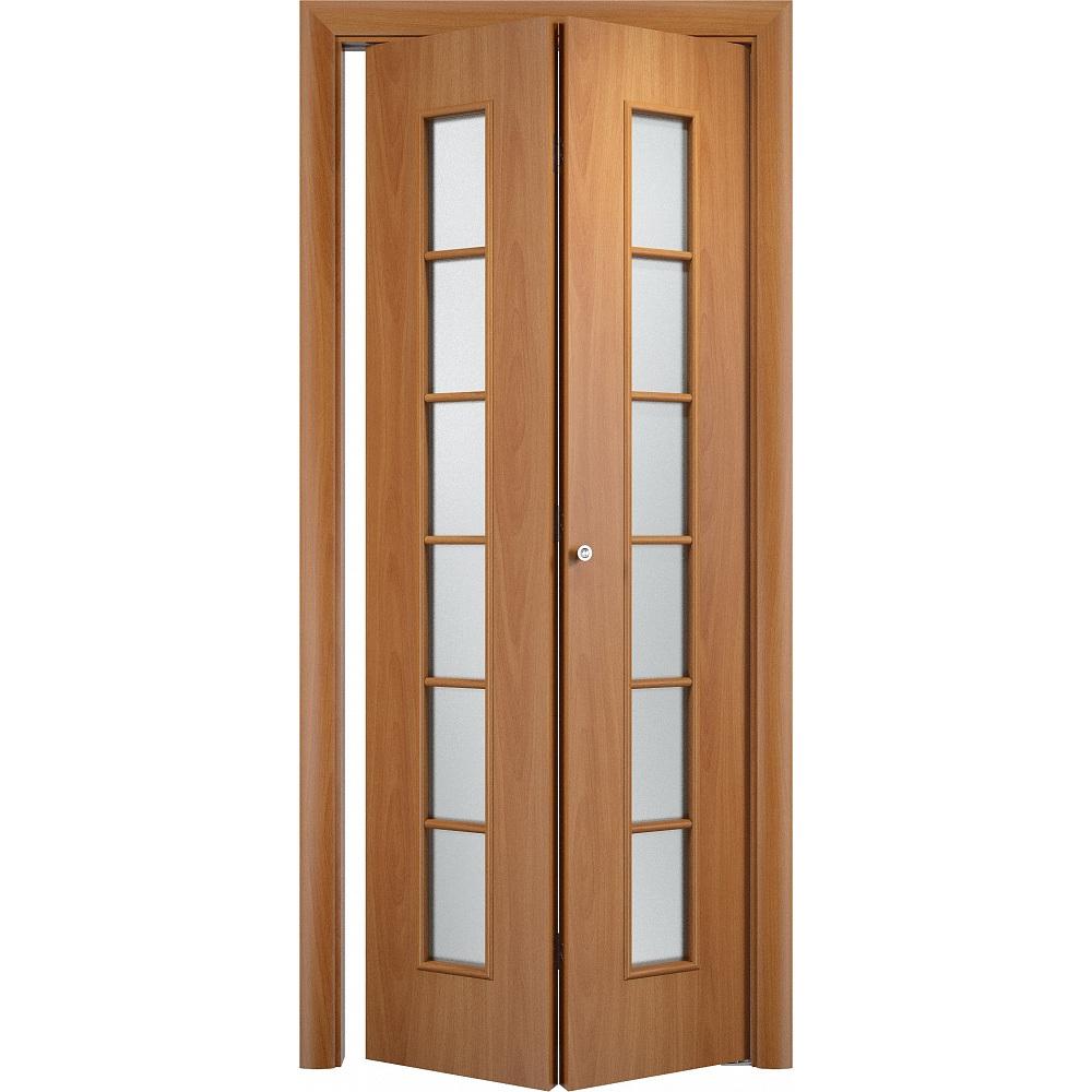 Складные двери Складная дверь Лесенка миланский орех со стеклом skladnye-s_12o-orekh-milanskiy-dvertsov.jpg