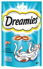 DREAMIES лакомство для кошек подушечки с паштетом со вкусом лосося
