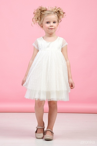Белое нарядное платье (Арт.38-9006-1)