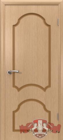 Дверь Владимирская фабрика дверей Кристалл 3ДГ1, цвет светлый дуб, глухая