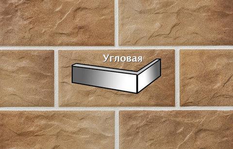 Stroeher - KS14 braun-bunt, Kerabig, glasiert, глазурованная, угловая, 221x71x148x12 - Клинкерная плитка для фасада и цоколя