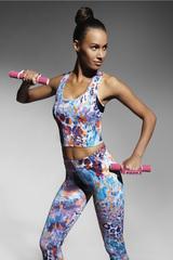 Топ-майка для фитнеса разноцветная