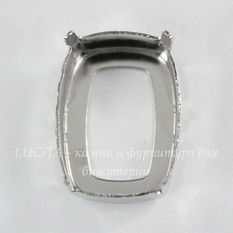4568/S Сеттинг - основа Сваровски для страза Cushion 18х13 мм (цвет - античное серебро)