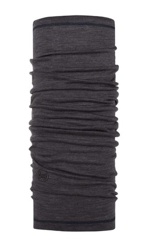 Тонкий шерстяной шарф-труба Buff Wool lightweight Charcoal Grey Multi Stripes