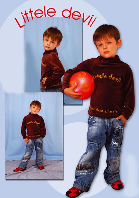 Выкройка велюровой блузы для мальчика