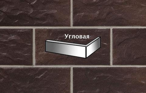 Stroeher - KS15 schokobraun, Kerabig, glasiert, глазурованная, угловая, 221x71x148x12 - Клинкерная плитка для фасада и цоколя