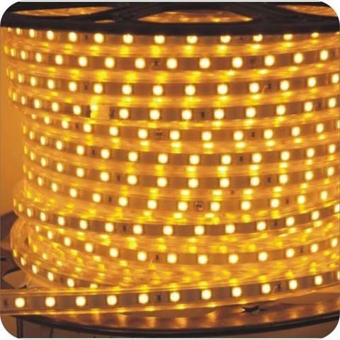 Светодиодная лента SMD3528/60, 220V влагозащищенная. Желтая.