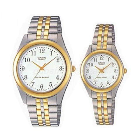 Купить Парные часы Casio Standard: MTP-1128G-7B и LTP-1128G-7B по доступной цене