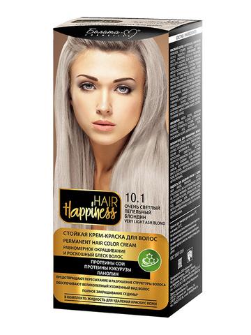 Белита-М Hair Happiness Крем-краска для волос аммиачная №10.1 светлый пепельный блондин