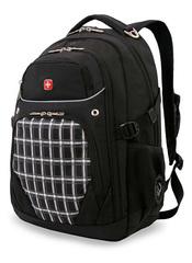 Рюкзак WENGER, цвет черный/клетка (3107204408)