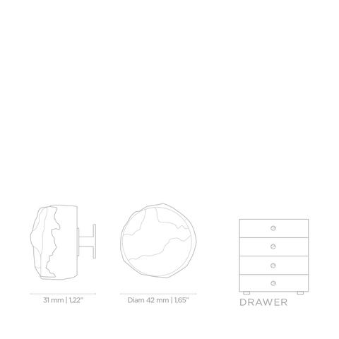 Мебельная ручка PullCast TIFFANY MARBLE CM3003