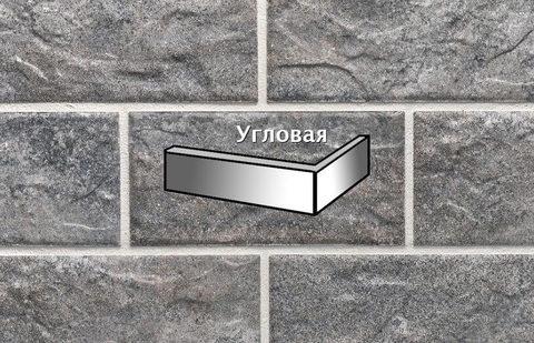 Stroeher - KS17 pidra, Kerabig, glasiert, глазурованная, угловая, 221x71x148x12 - Клинкерная плитка для фасада и цоколя
