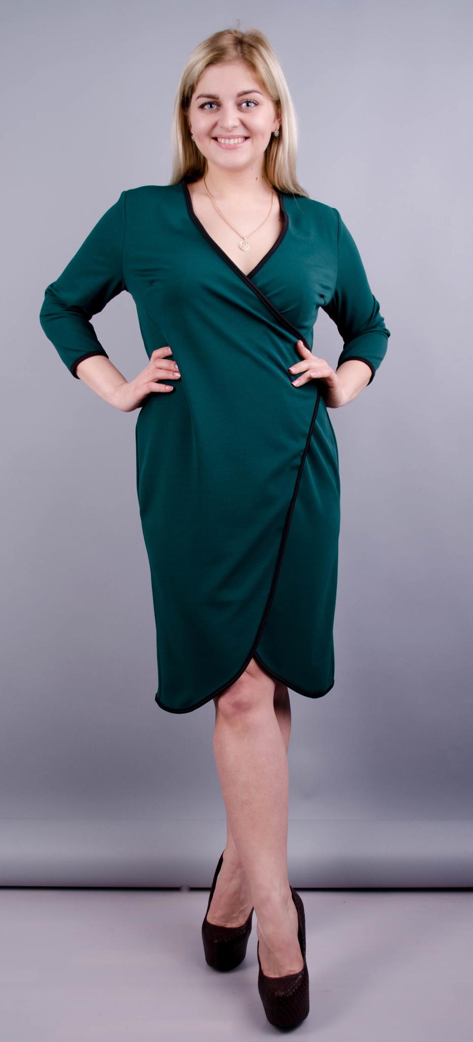Нателла. Оригінальна сукня великих розмірів. Смарагд.