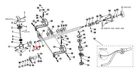 Подшипник вертикального вала 8*25.5 для лодочного мотора T2 SEA-PRO