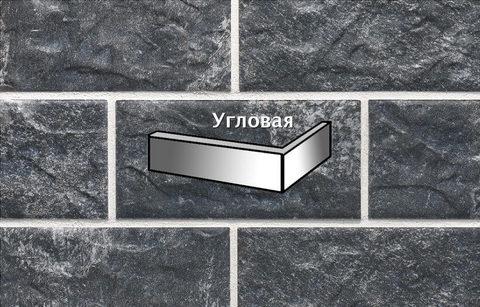 Stroeher - KS18 schildpatt, Kerabig, glasiert, глазурованная, угловая, 221x71x148x12 - Клинкерная плитка для фасада и цоколя