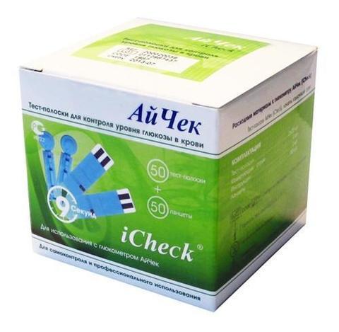 Тест-Полоски iCheck №50 (+ ланцеты № 50) DIAMEDICAL Ltd., United Kingdom