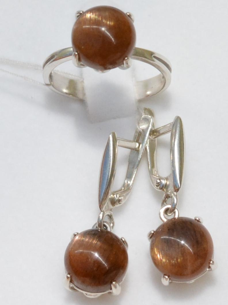 Пуанты (кольцо + серьги из серебра)