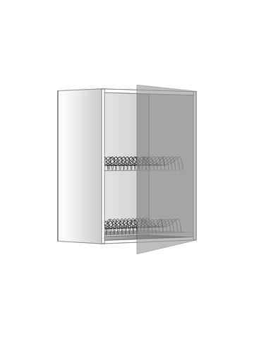 Верхний шкаф c сушилкой, 600х450 мм