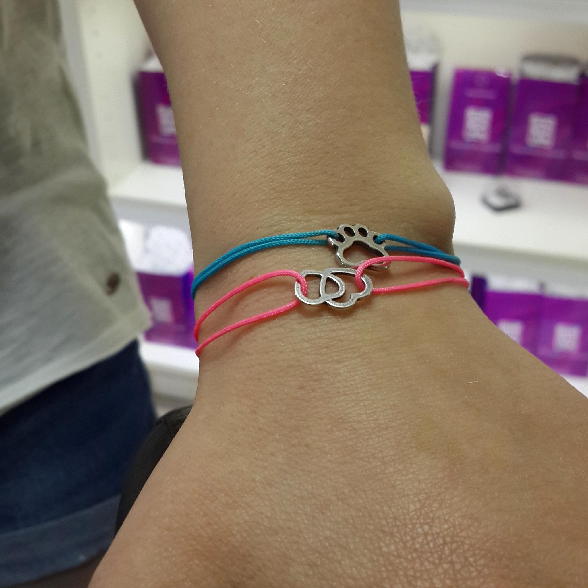 Two hearts together bracelet, sterling silver
