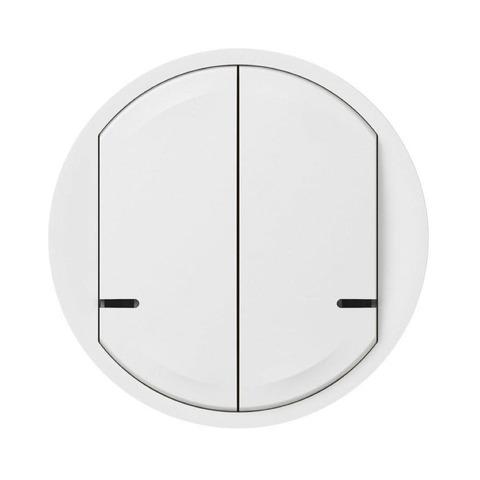 Лицевая панель выключателя двухклавишного. Цвет Белый. Celiane NETATMO. 064816