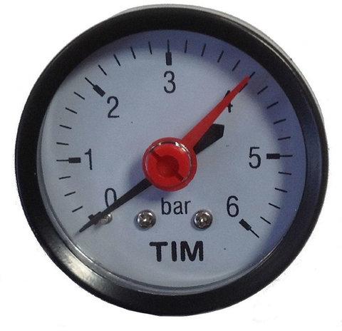 Манометр давления Tim 6 бар аксильный