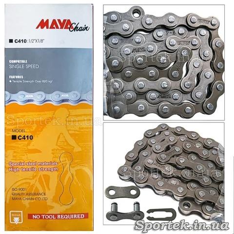 Односкоростная велосипедная цепь Maya Chain C410