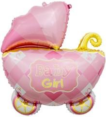 К 35''/89 см, Коляска для девочки, Розовый, 1 шт.