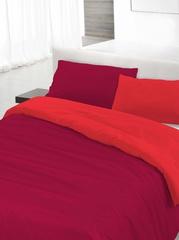 Пододеяльник 155х200 Caleffi Tinta Unito Bicolor бязь красный/коралловый