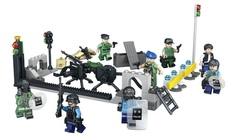 Минифигурки Военных Полиция Блокпост серия 156