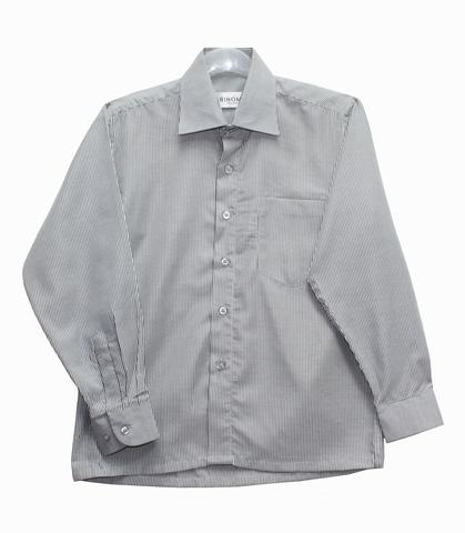 RINOMA Рубашка для мальчика школьная серая