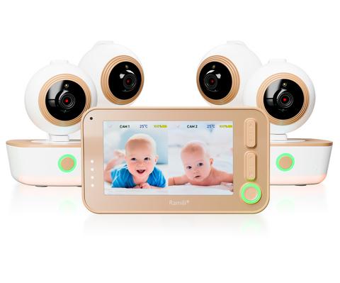 Видеоняня Ramili Baby RV1300 - 4 камеры в комплекте