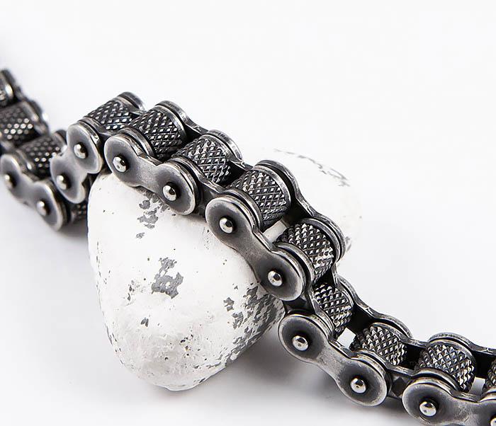 BM547 Крутой браслет цепь с вращающимися звеньями фото 03