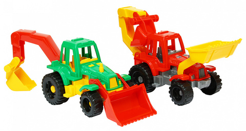 Трактор «Ижора» с грейдером и ковшом
