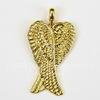 """Подвеска """"Крылья ангела"""" (цвет - античное золото) 29х16 мм"""