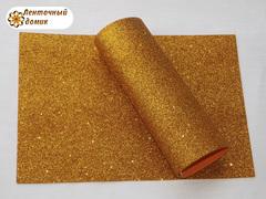 Фоамиран с блестками темно-золотой 2мм
